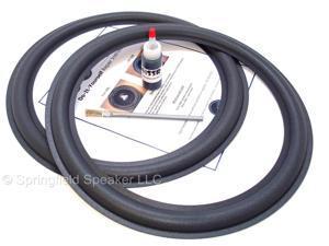 """2 JL Audio 15""""  Speaker Foam Surround Repair Kit - 15W0, 15W1, 15W6"""