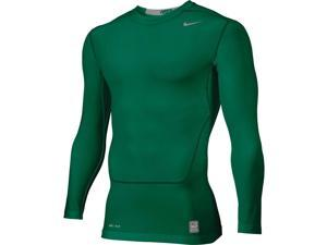Nike Men's Pro Combat NPC Core 2.0 LS Compression Top Shirt-Dark Green-2XL