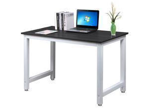 Yaheetech Simple Design Computer Table Wood Desktop Metal Frame Workstation  Home ...