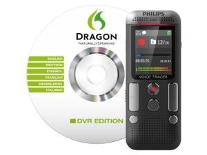 Philips DVT2700 Digital Voice Tracer with Speech Recognition Software Voice Recorder, Black