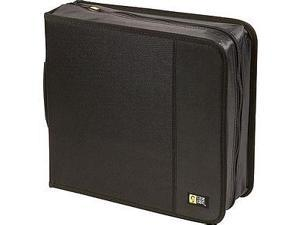 Case Logic 208 Capacity Cd Wallet - Clamshell - Nylon - Black - 208 Cd/dvd