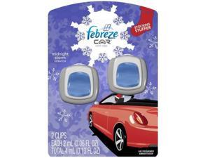 Febreze 94736 Car Vent Clips Air Freshener, Amber