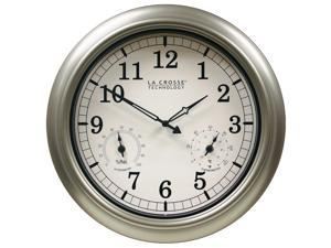 La Crosse Technology WT-3181PL-Q Indoor/Outdoor Wall Clock