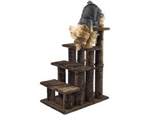 Steady Paws 4 Step Pet Stairs - Brown
