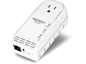TRENDnet TPL-307E Powerline AV Adapter with Bonus Outlet Up to 200Mbps