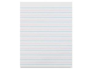 Pacon Zaner-Bloser Broken Midline Sulphite Paper