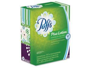 Plus Lotion Facial Tissue White 2-Ply 116/Box 3 Boxes/Pack 8 Packs/Carton