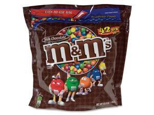 Mars M&M's Plain Milk Chocolate Candies Zipper Bag