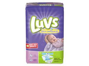 Diapers w/Leakguard Newborn: 4 to 10 lbs 40/Pack 4 Pack/Carton