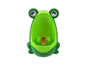 Foxnovo Frog Shaped Boys Potty Training Urinal with Whirling Target (Green)