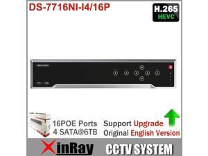 Hikvision 16CH NVR DS-7716NI-I4/16P with 4 SATA and 16 POE 4K HDMI Output Support H.265 Updateable 12MP NVR Dual OS Support