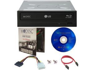 LG 16X Internal Blu-ray 3D Playback Burner Writer+Software+Cable+1pk M-DISC DVD