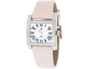 Michele 71-7400 Diamond Stainless Steel Bezel Pink Strap Quartz Women's Watch