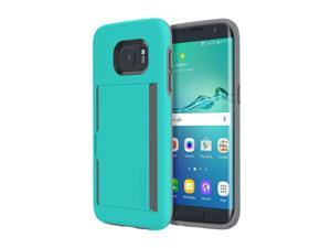 Incipio Stowaway Teal Credit Card Case with Integrated Stand for Samsung Galaxy S7 SA-724-TEL