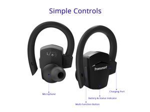 Tronsmart Encore S5 True Wireless Headphones Sports Bluetooth Earphones with Mic for iPhone Android and More - Black