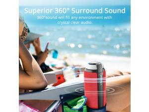 Tronsmart Element T6 25W Portable Bluetooth Speaker with Built-in Microphone Enhanced Bass - Red