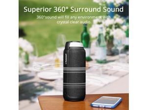 Tronsmart Element T6 25W Portable Bluetooth Speaker with Built-in Microphone Enhanced Bass - Black