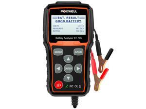 FOXWELL BT705 12V&24V Battery Analyzer 100-2000 CCA Automotive Car Battery Load Tester, Cranking and Charging System Test Scan Tool Digital Battery Tester for Cars and Heavy Duty Trucks