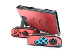 Aluminium Protective Shell Case for Nintendo switch with 2 alloy Joy-Con Case  red