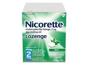 Nicorette Lozenges Nicotine Mint Stop Smoking Aid, 2 mg, 144 Count
