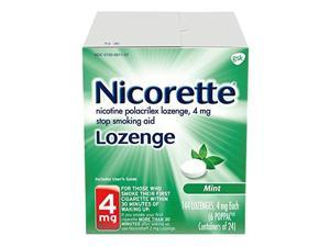 Nicorette Lozenges Nicotine Mint Stop Smoking Aid, 4 mg, 144 Count