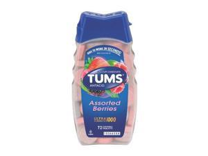 Tums Ultra 1000 Antacid Chewable Tablets, Assorted Berries, 72 Count