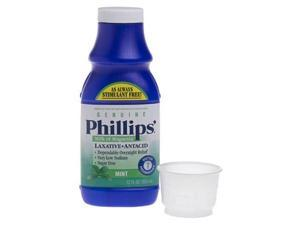 Phillips Milk of Magnesia Laxative Antacid, Mint, 12 Ounces