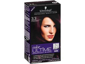 Schwarzkopf Ultime Hair Color Cream, 3.3 Amethyst Black, 2.03 Ounce