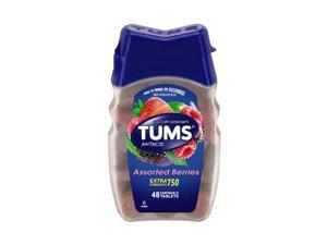Tums Ex Antacid Chewable Tablets, Assorted Berries, 48 Count