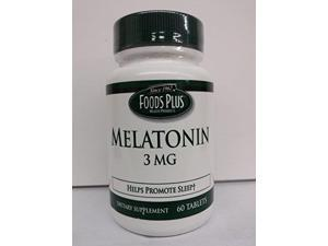 Food Plus Melatonin 3 Mg 60 Tabs
