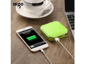 Green Aigo S20000 10000mAh Lovely Appearance Power Bank with Dual USB Ports Powerbank External Mobil