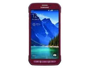 Samsung Galaxy S5 Active G870A Android AT&T Unlocked GSM Smartphone -Ruby Red