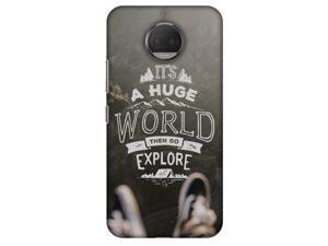 Amzer Designer Case - Explore The World for Motorola Moto G5s Plus XT1803