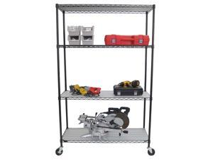 "TRINITY 4-Tier Wire Shelving Rack | 48"" x 18"" x 72"" 