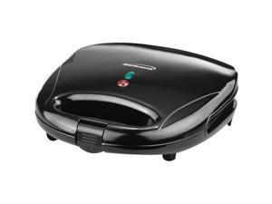 BRENTWOOD TS-240B Black & Stainless Steel Sandwich Maker