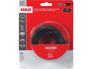 RCA VH12HHR 12 ft. Black HDMI Cable M-M