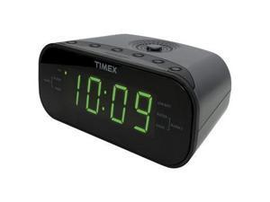 TIMEX T231GY2 AM/FM Dual Alarm Clock Radio with Digital Tuning (Gunmetal Gray)