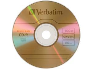 Verbatim UltraLife CD Recordable Media - CD-R - 52x - 700 MB - 1 Pack Jewel Case