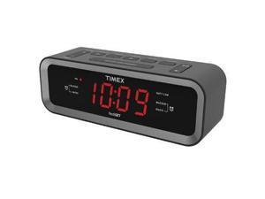 Timex Audio Dual Alrm Clock Radio w USB T236B