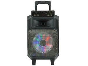 """QFX PBX-2181 8"""" Bluetooth Portable Battery Powered Party Speaker"""