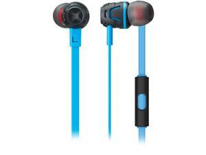 Phiaton C450SLIGHTBLUE Extreme Bass Boosting In-Ear Headphones With Microphone (Light Blue)