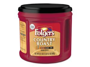 Folgers 2550020631CT Coffee, Country Roast, 31.1 Oz Canister, 6/Carton