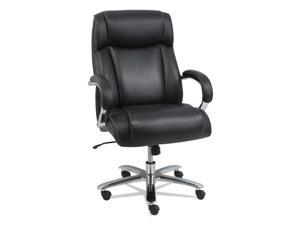 Alera - MS4419 - Alera Maxxis Series Big and Tall Leather Chair, Black/Chrome