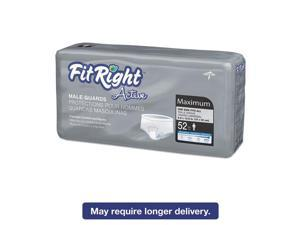 FitRight Active Male Guards, LINER,INCONTINENT,MALE GUARD, 6X11 - 1 CS, 208 EA