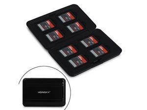 Honsky Aluminum Water Resistant UHS-I SD Micro SD SDHC SDXC TF SecureDigital Memory Card Carrying Ca