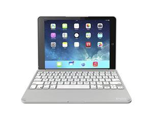 ZAGG Ultra-Slim Folio Case, Hinged Multi-View Bluetooth Keyboard for iPad Air 2 - White