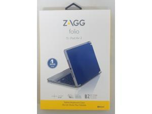 ZAGG Blue Folio for iPad Air 2 Non-Backlit Keyboard Case Model ID6ZFN-BL0