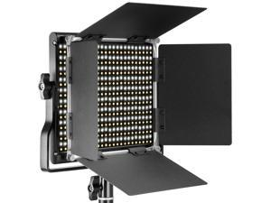 Neewer Dimmable Bi-color LED with U Bracket and Barndoor Professional Video Light for Studio, YouTube, Product Photography, Video Shooting, Durable Metal Frame, 660 LED Beads, 40W, 3200-5600K, CRI 95+