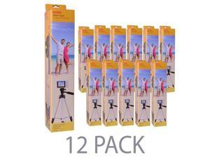 "(12-Pack) 50"" Kodak TR501 Superior Control Tripod w/3-Way Fluid Pan Head (Black)"