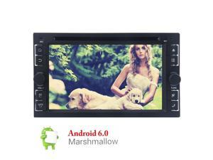 "Double din Android 6.0 Car Radio Stereo 6.2"" Capacitive Touch Screen dash GPS Navigation/Bluetooth handfree/USB/SD Car CD DVD Player 1G DDR3 + 16G NAND Memory Flash+Steering Wheel Control+ Wifi 3G/4G"